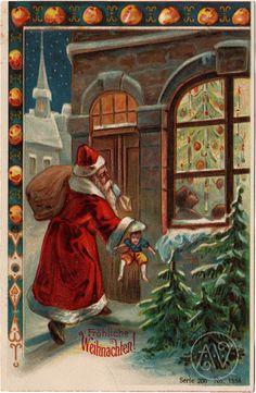 / old world santa at the front door / victorian christmas celebration / Apple Outline, World Famous Paintings, Create Invitations, Victorian Christmas, Mirror Image, Collage Sheet, Background Patterns, Old World, Digital Image