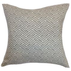 The Pillow Collection Graz Geometric Bedding Sham Size: King, Color: Dove