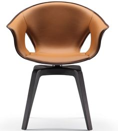 Ginger Sessel Poltrona Frau Ginger: A bowl of soft leather. Comfortable and protective. An armchair of refined simplicity. Razor sharp, essential and comfortable forms. Italian Furniture Brands, Modern Furniture, Furniture Design, Japanese Furniture, Table And Chairs, Dining Chairs, Restaurant Furniture, Saddle Leather, Soft Leather