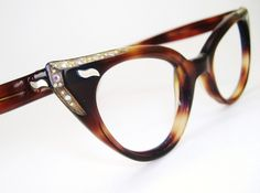 Your place to buy and sell all things handmade Vintage Wear, Unique Vintage, Tortoise Cat, Optician, Vintage Frames, Cat Eye, Eyeglasses, Rhinestones