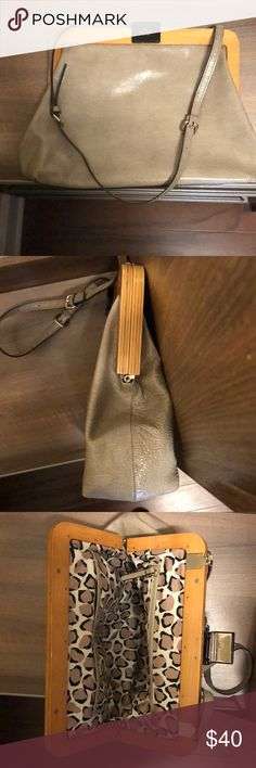 Kate Spade bag Tan leather with wood trim Great condition  Used only a few times kate spade Bags Shoulder Bags