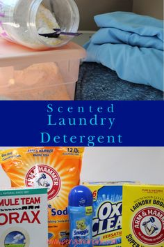 Scented Laundry Detergent is a homemade laundry detergent that is comparable to commercial laundry detergents. It makes about 349 loads worth of detergent for less than $31.