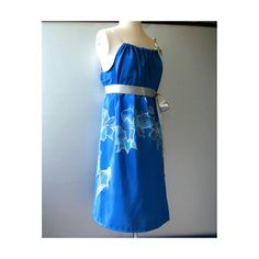 Sundress Royal Blue  Floral Orchid Hand Painted by TanjaDesign, $225.00