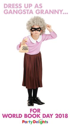 It's not long until World Book Day 2018 and if you're looking for costume ideas, this Gangsta Granny costume from partydelights.co.uk is a great choice! Inspired by the popular Gangsta Granny book by David Walliams, it's a really funny and easy World Book Day costume idea!