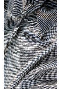 Mens Scarves,The Carpet Cellar,Mens Houndstooth Shahmina Scarf  Black and white   <br>TD-628