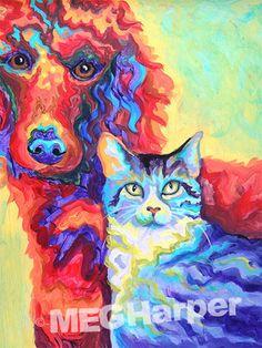 Best Friends ~ Pet Dog Portrait ~ Meg Harper — Meg Harper Art  #dog #puppy #best friend #inspirational #kindness #animalpainting #art #painting #pets #petportrait #animal #love #megharper #megharperart