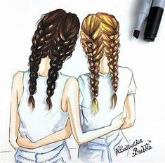 Drawings for best friends best friend drawings best friends cartoon 2 best friends best friends forever . drawings for best friends Best Friend Pictures, Bff Pictures, Pictures To Draw, Bff Images, Best Friends Cartoon, Friend Cartoon, Tumblr Drawings, Girly Drawings, Cute Drawings Of Girls