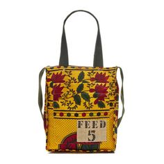 FEED 5 Africa Bag Yellow Green, $100, now featured on Fab.