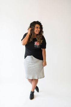 Thermal Midi Skirt- Heather Gray affiliate link