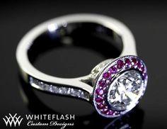so pretty //ruby diamond full bezel Halo