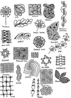 Inspiration Page - Zentangle - More doodle ideas