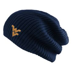best loved 1a195 b6c72 Hipster Slouch Knit WVU Beanie