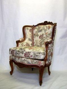 椅子 アンティーク ウィングチェア 耳付き椅子 クッション付き WING CHAIR シルク布地 Wing Chair, Wingback Chair, Accent Chairs, Furniture, Home Decor, Upholstered Chairs, Decoration Home, Room Decor, Wing Chairs
