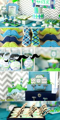 Little man birthday party - mustache bash first birthday party - boys birthday party