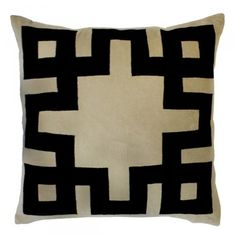 Velvet Applique Pillow - Furbish