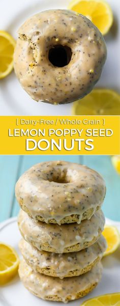 These Lemon Poppy Seed Donuts are soooo delicious. They're baked, use whole grain flour, dairy-free AND light and fluffy. Oh, don't forget the lemon glaze though…