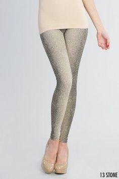 02607d62632c9 NEW Nikibiki Beige Snakeskin Print Leggings One Size Fits All  fashion   clothing  shoes