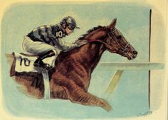 1961 Carry Back Carry Back, Carry On, Thoroughbred Horse, Horse Racing, Moose Art, Horses, Animals, Animales, Hand Luggage