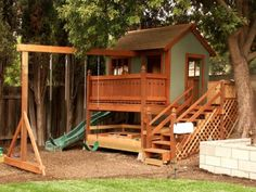 Having a large yard, do you think about tree house ideas? In addition to making your yard more pleasant to look at besides having grass, flowers, and other plants that grow well maintained, the idea of making playhouse ideas will… Continue Reading → Wooden Playhouse Kits, Backyard Playhouse, Build A Playhouse, Playhouses For Sale, Small Playroom, Playroom Ideas, Building A Treehouse, Play Houses, Gardens