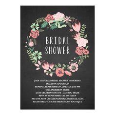 Floral Wreath | Bridal Shower Invitation