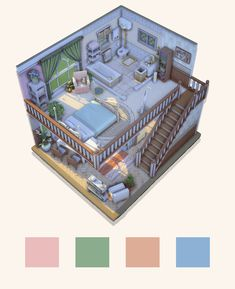 lavender scented — a cute old lady and her five cats live here. - lavender scented — a cute old lady and her five cats live here… - Sims 4 House Plans, Sims 4 House Building, Sims 4 House Design, Tiny House Design, My Sims, Sims Cc, Sims Free Play, Casas The Sims 4, Sims 4 Build