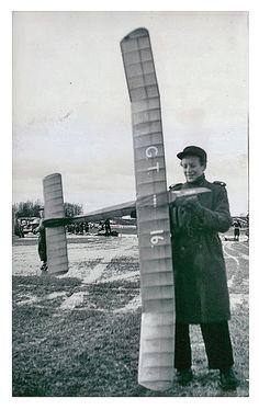 1946-02-18 -      Model airplane in Örebro Sweden.