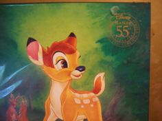 Disney lithograph - Bambi 55th Anniversary