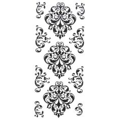 XL Damask Stickers