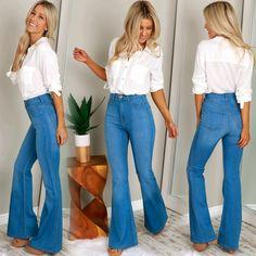 High Waisted Flare Jeans Medium ($39.99)