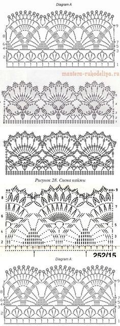 Crochet Pumpkin - Easy to Crochet I-Cord Tutorial 110 - Häkeln - Crochet Crochet Edging Patterns, Crochet Lace Edging, Crochet Motifs, Crochet Borders, Crochet Diagram, Crochet Chart, Crochet Doilies, Stitch Patterns, Knitting Patterns