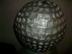 Detail Silver Monument, Top of artwork, finale, coffered, Farrell Hamann Fine Art, farrellhamann, sculpture