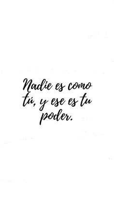 quotes in spanish . y ese es tu poder ✨💛 Citations Instagram, Instagram Quotes, Spanish Inspirational Quotes, Spanish Quotes, Favorite Quotes, Best Quotes, Love Quotes, Amor Quotes, Positive Mind