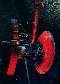 John Berkey 70s Sci-Fi Art