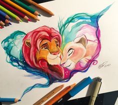 43- Simba and Nala by Lucky978.deviantart.com on @DeviantArt