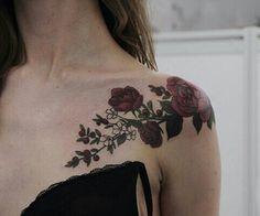 rose shoulder piece tattoo Mehr