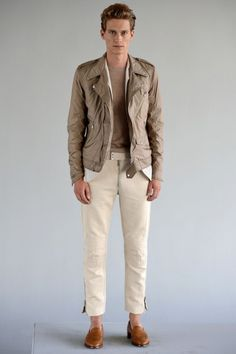 Lindeberg New York - Spring Summer 2013 Ready-To-Wear - Shows - Vogue. Male Clothes, Riders Jacket, Motorcycle Jacket, Biker, Bomber Jacket, Top Luxury Brands, Best Shopping Sites, Casual Wear For Men, Men Looks