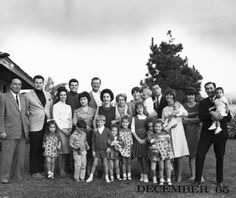 John Wayne and his family he had 7 children and 26 grandchildren