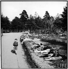 Incredible photos that show the reality of the death camps at the end of World War II.