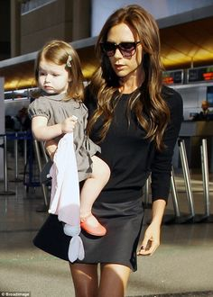 Victoria Beckham and little Harper - so chic