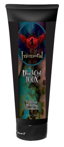 Immoral Tanning Lotion BlackOut Extreme Dark Tanning Bronzing Emulsion Streak Free Tattoo Safe IndoorOutdoor Tanning Bed and Booth Bronzer Accelerator Intensifier 8 Fluid Ounce * Want additional info? Click on the image(It is Amazon affiliate link). #newyork