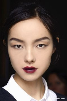 Fei Fei Sun beauty at Lanvin FW/2013 Backstage.