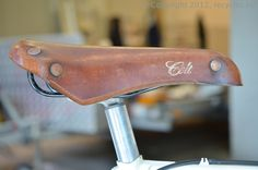 Brooks Colt, vintage racing bicylcle leather saddle