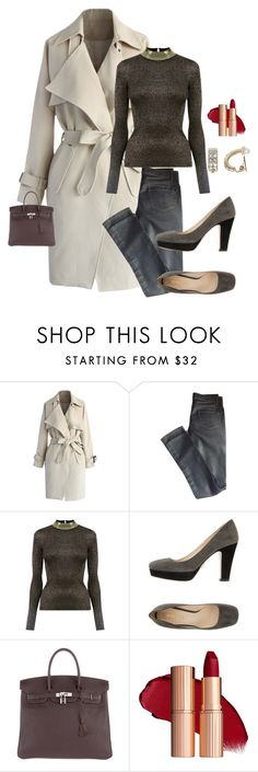 """Casual day at the Office."" by kotnourka ❤ liked on Polyvore featuring Chicwish, Valentino, Oasis, Prada, Hermès and Dana Buchman"