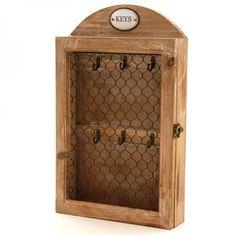 Porta Chaves em Caixa de Madeira