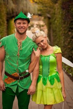 Motto Week childhood hero Peter Pan and bell green costumes for couples Hero Costumes, Carnival Costumes, Disney Costumes, Cool Costumes, Costumes For Women, Costume Ideas, Carnival Ideas, Disney Cosplay, Cosplay Ideas