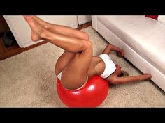 Girls AB Exercises on a Ball! - YouTube
