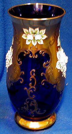 Bohemian Crystal Decorated Vase For Sale | Antiques.com | Classifieds