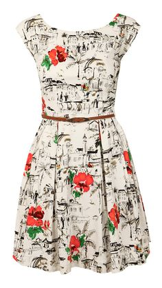 Floral dress...I WANT THIS!honestly how often do you see stuff like this