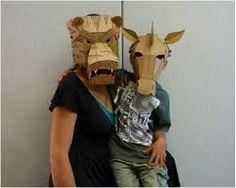 Resultado de imagen de cardboard mask