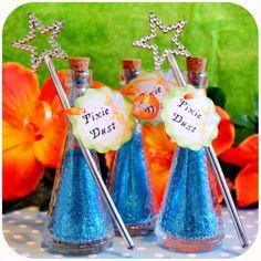 Disney Pirate Fairy Party - Blue Pixie Dust Favors on Etsy with Kraftsbykaleigh #kraftsbykaleigh #disneypiratefairy #tinkerbell